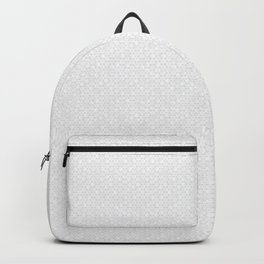 Modern Minimal Hexagon Pattern in Silver Gray and White Backpack