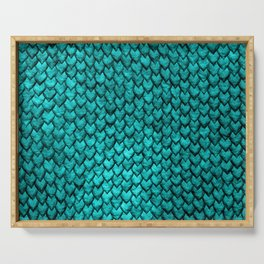 Mermaid Scales - Turquoise Serving Tray