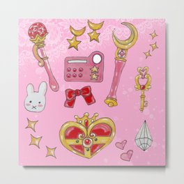 Hand Painted Sailormoon Starter Kit Metal Print