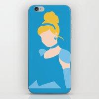 cinderella iPhone & iPod Skins featuring Cinderella by Adrian Mentus