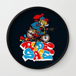 Ride Safe Wall Clock