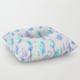 Iridescent Rainbow Crystals Floor Pillow