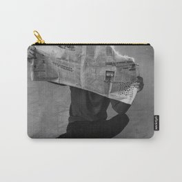 News on Fire (Baclk and White) Carry-All Pouch