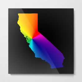 California Pride Metal Print