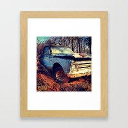 Junk Yard Chevy 10 Framed Art Print