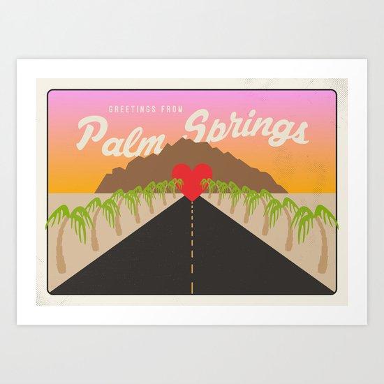 GREETINGS FROM PALM SPRINGS Art Print