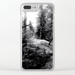 Fall Forest Morning Clear iPhone Case