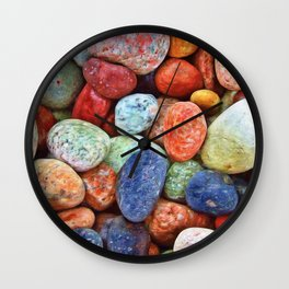 Rainbow Rocks Wall Clock