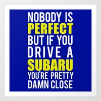 subaru Art Prints featuring Subaru Owners  by Barbo's Art