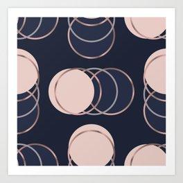 Abstract luxury Circle pattern Art Print