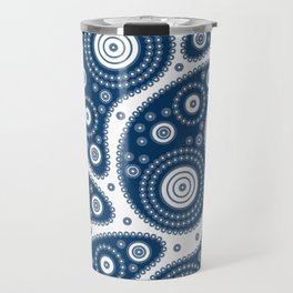 Blue Paisley Pattern Travel Mug