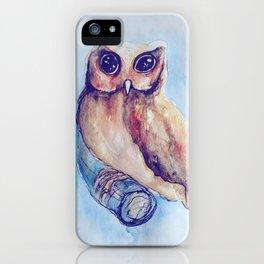 Owl Watercolor II iPhone Case