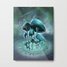 Mystic Mushrooms Metal Print