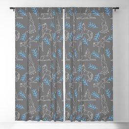 Siberian Husky Pattern Blackout Curtain
