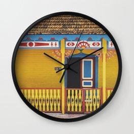 Yellow Paradise Wall Clock