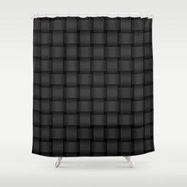 Black Weave Shower Curtain