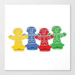 Candy Board Game Figures Canvas Print