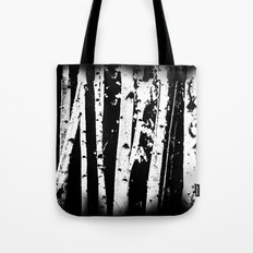 Black and White Birch Trees Fade Out Tote Bag