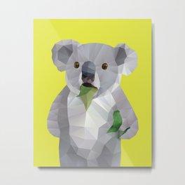 Koala with Koalafication Polygon Art Metal Print