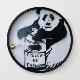 Let Freedom Spray Wall Clock