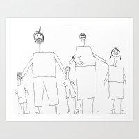 Family of 6 Art Print