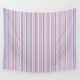 Rose Quartz and Serenity stripes Wall Tapestry