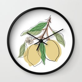 Limoncello Wall Clock