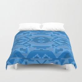 Geometric Aztec in Cobalt Duvet Cover