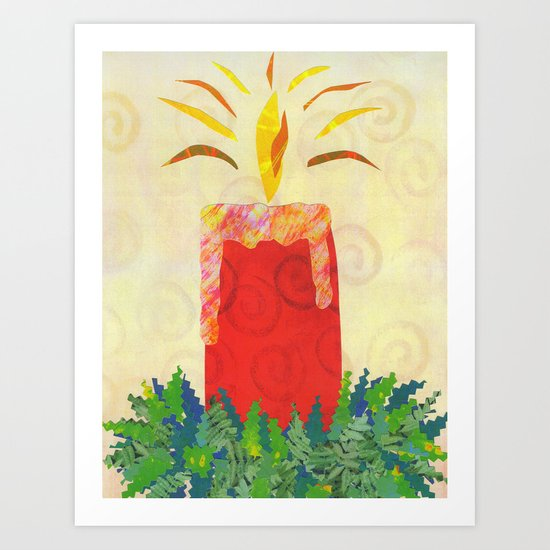 Candlelight's Gleaming Art Print