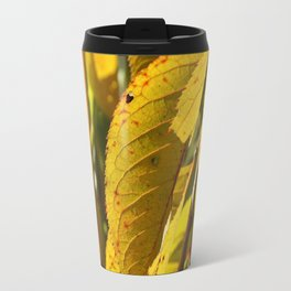 Yellow Leaves Travel Mug