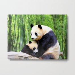 Panda-love Metal Print