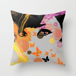 Audrey again Throw Pillow