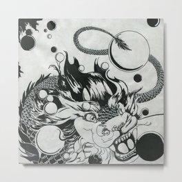 Dragon Marbles Metal Print