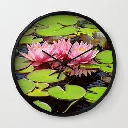 Pink Waterlily 035 Wall Clock