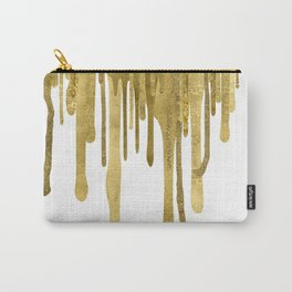 Gold paint drips Carry-All Pouch