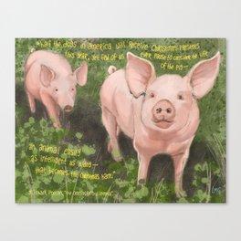 Pigs 2 Canvas Print