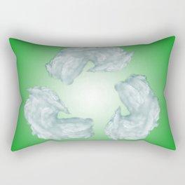 recycling eco symbol Rectangular Pillow