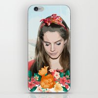 ultraviolence iPhone & iPod Skins featuring daddy's girl by Tiaguh