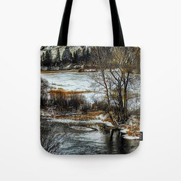 Down By The Waters Edge - Graphic 1 Tote Bag