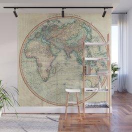 Vintage Map of The Eastern Hemisphere (1801) Wall Mural