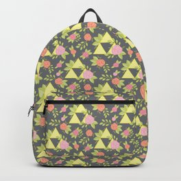 Garden of Power, Wisdom, and Courage Pattern in Grey Backpack