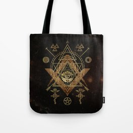 Mystical Sacred Geometry Ornament Tote Bag