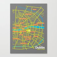 dublin Canvas Prints featuring Dublin by mattholleydesign