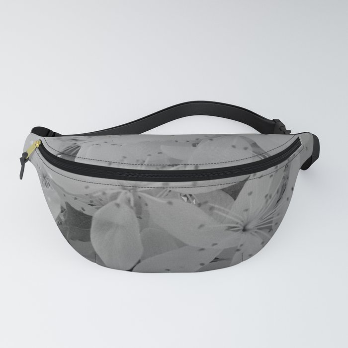 Black and White Blossoms Fanny Pack