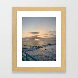 Sunset Swim Framed Art Print