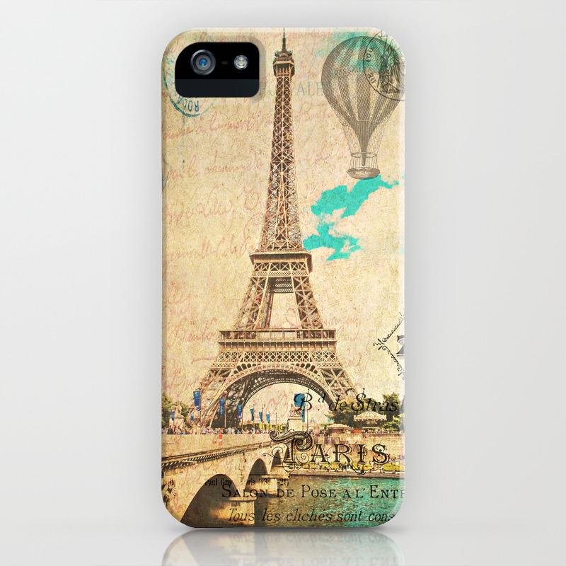 Vintage Eiffel Tower Paris Iphone Case
