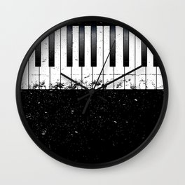 Jazz Piano Wall Clock