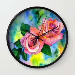 Noses in the Roses Wall Clock