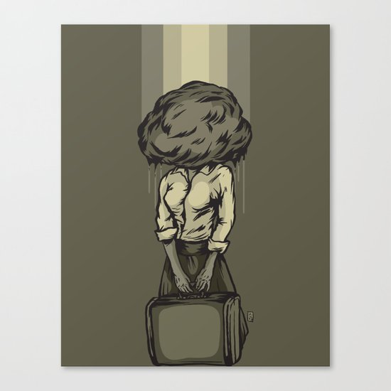 Felt Like Monday Canvas Print