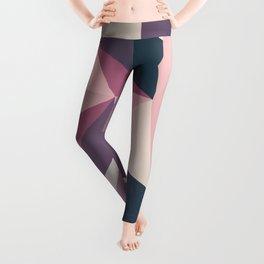 pink dark geometric Leggings